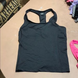 Racer back top with built in bra